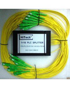 PLC Split. 1x 3 SC/APC, ABS box 2mm 1.5m