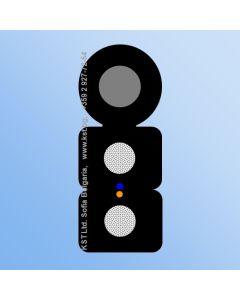 FTTH 2F G652D 2xFRP LSZH UV Messenger