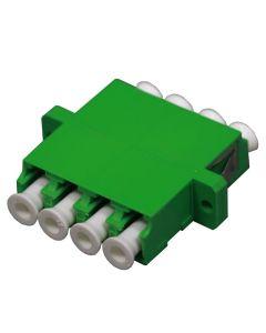 Адаптер LC/APC SM Quad, Zr, Зелен
