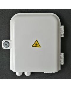 Настенна кутия, 8 SC Sx адаптери, 8 + 2 кабелни порта
