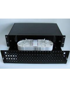 19'' ODF  48 порта, дуплекс, 2U, 4 касети, 96 термофити