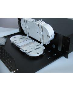 19'' ODF  96 порта, симплекс, 3U, 4 касети, 96 термофити