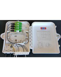 Настенна кутия, 16 SC Sx адаптери, 16 + 2 кабелни порта