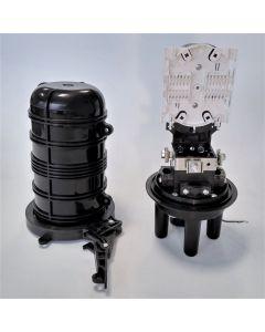 Оптична муфа GJS-02-D, 4 порта, 1 касета, 24 спл.