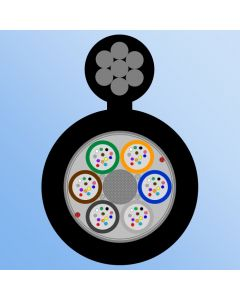 AER MLT 24F, 6x4F, HDPE, 4500N, Messenger 7x0.9mm