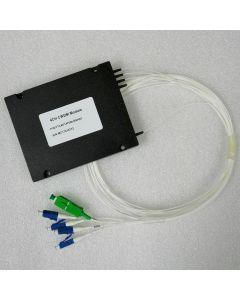 MUX / DEMUX 1x4 1470,1490,1550,1570nm  LC/UPC, COM-SC/APC, ABS, 0.9 mm