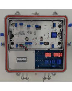 1G CATV усилвател, 5-65MHz/ 87-1002MHz, 38dB/24dB, outdooor, 220V