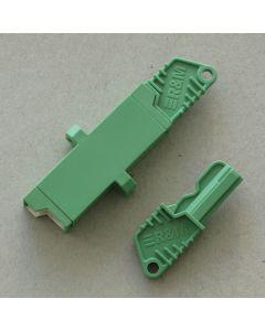 Адаптер E2000/APC SM Sx, Zr, Зелен