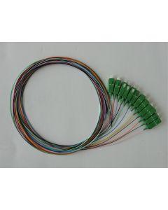 Пигтайл SC/APC SM, 0.9mm 1.5m 12col, Easy Strip, LSZH, Оцветени Влакна