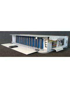 "19""-21"" ODF 96 порта, 2U, 8 спл. касети, 96 спл. протектори - ОКОМПЛ."