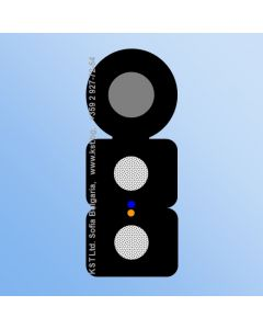FTTH 2F G657А 2xFRP LSZH UV Messenger-Zn 1000m