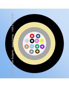FTTH TPU 12F micro ADSS, G657A2, Black