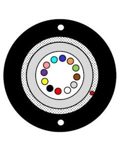DUCT  UT  4F, GFR, HDPE, 500N, G.652D, FRP 2x0.58mm
