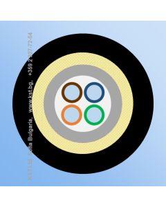 FTTH TPU  4F micro ADSS, 180N, G657A2, Black