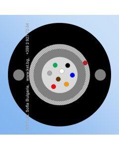 DUCT  UT  8F, GFR, HDPE, 500N, G.652D, FRP 2x0.58mm